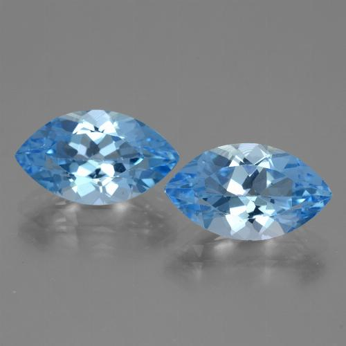 Swiss Blue Topaz Gem - 4.1ct Marquise Facet (ID: 438900)