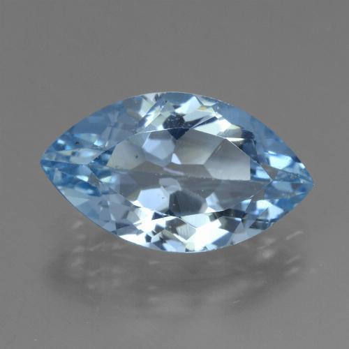 Swiss Blue Topaz Gem - 3.9ct Marquise Facet (ID: 438911)
