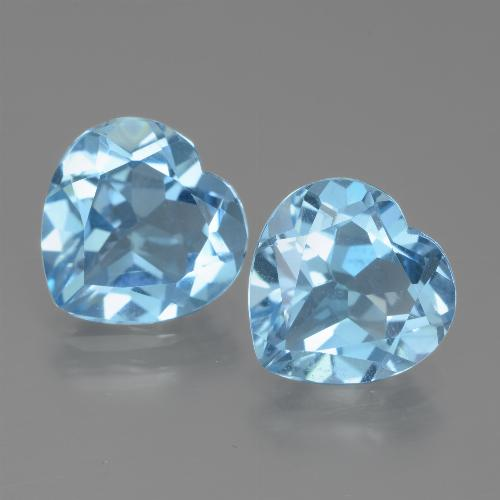 Maya Blue Topaz Gem - 2.8ct Heart Facet (ID: 438950)