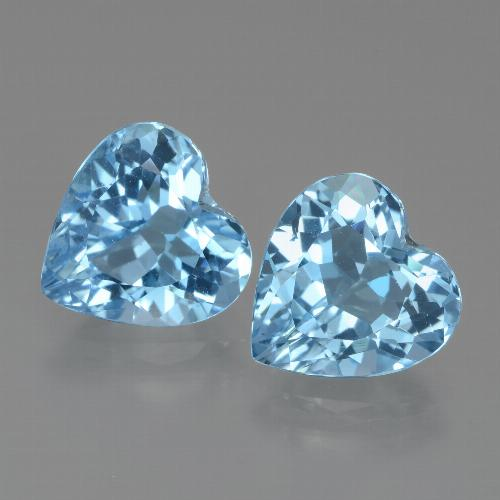 Swiss Blue Topaz Gem - 2.9ct Heart Facet (ID: 438951)