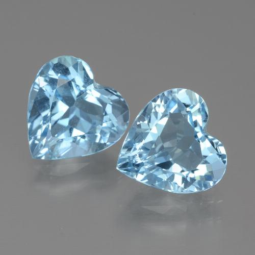2.9ct Heart Facet Sky Blue Topaz Gem (ID: 438954)