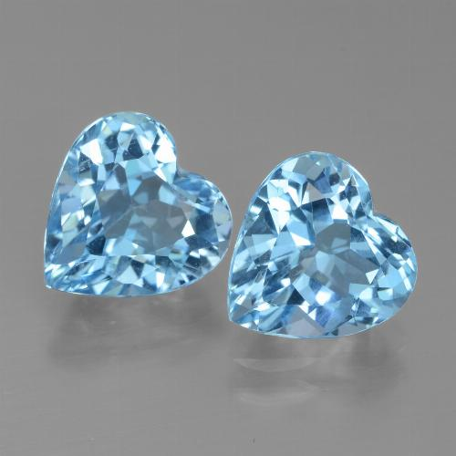 Light Blue Topaz Gem - 3ct Heart Facet (ID: 438999)