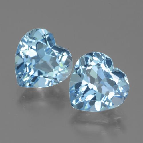 3.2ct Heart Facet Sky Blue Topaz Gem (ID: 439003)