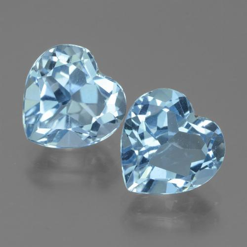 3.35 ct Heart Facet Baby Blue Topaz Gemstone 9.18 mm x 9.1 mm (Product ID: 439007)