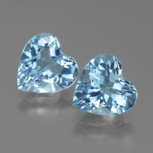 2.67 ct Heart Facet Baby Blue Topaz Gemstone 8.74 mm x 8.7 mm (Product ID: 439008)