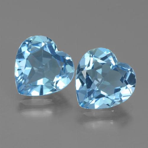2.8ct Heart Facet Sky Blue Topaz Gem (ID: 439060)