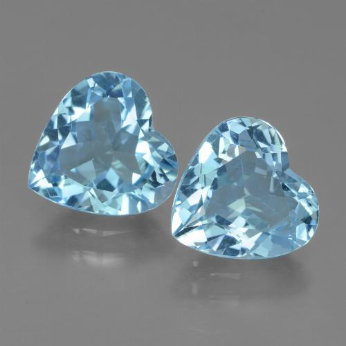 2.7ct Heart Facet Sky Blue Topaz Gem (ID: 439061)