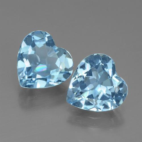2.6ct Heart Facet Sky Blue Topaz Gem (ID: 439063)