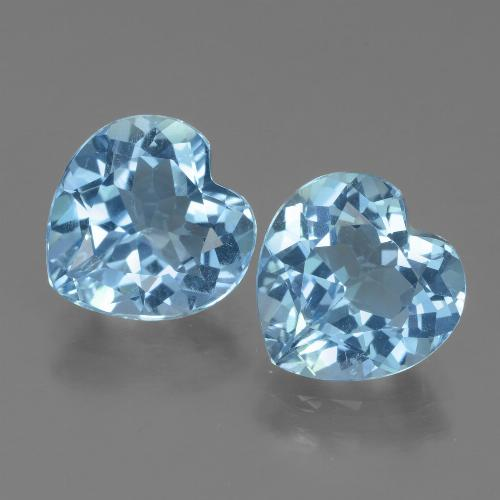 Swiss Blue Topaz Gem - 3ct Heart Facet (ID: 439064)