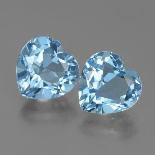 3.1ct Heart Facet Sky Blue Topaz Gem (ID: 439067)