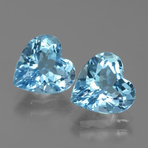 3ct Heart Facet Sky Blue Topaz Gem (ID: 439068)