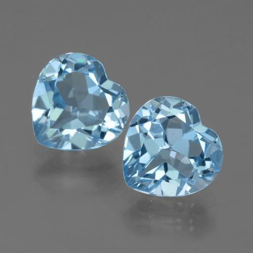 Baby Blue Topaz Gem - 2.9ct Heart Facet (ID: 439179)