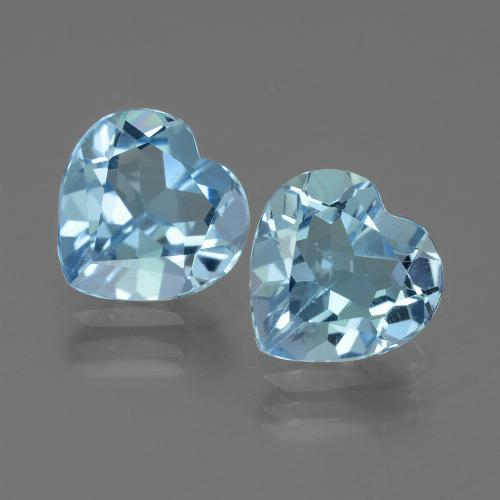 Swiss Blue Topaz Gem - 2.7ct Heart Facet (ID: 439182)