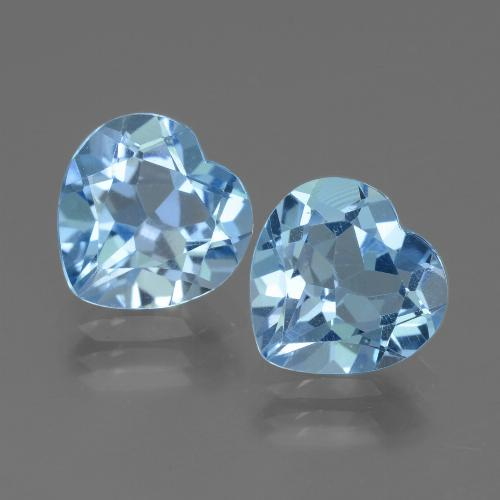 Swiss Blue Topaz Gem - 2.7ct Heart Facet (ID: 439185)