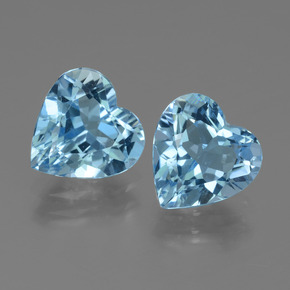 Swiss Blue Topaz Gem - 2.7ct Heart Facet (ID: 439186)