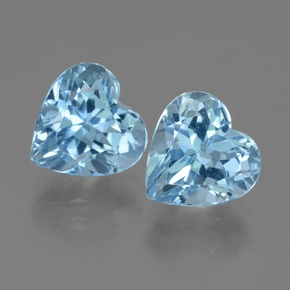 3.4ct Heart Facet Sky Blue Topaz Gem (ID: 439187)