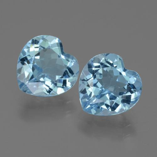Swiss Blue Topaz Gem - 3ct Heart Facet (ID: 439188)