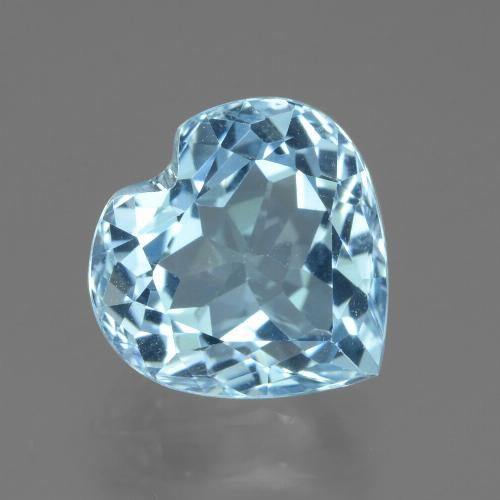 Swiss Blue Topaz Gem - 3.2ct Heart Facet (ID: 439240)