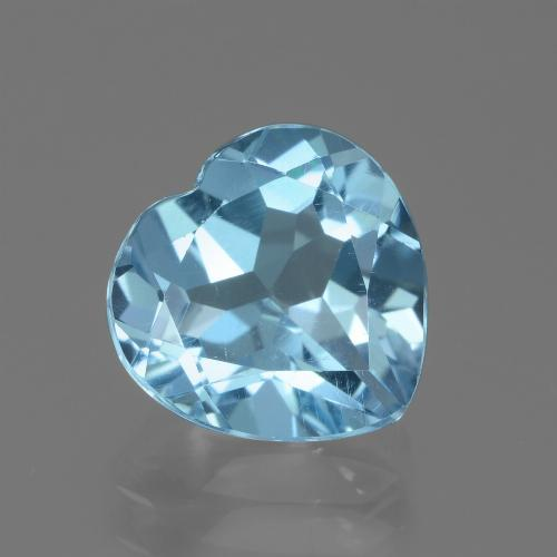 3ct Heart Facet Sky Blue Topaz Gem (ID: 439241)