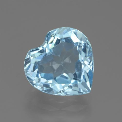 2.8ct Heart Facet Sky Blue Topaz Gem (ID: 439242)