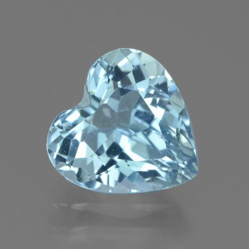 2.9ct Heart Facet Sky Blue Topaz Gem (ID: 439243)