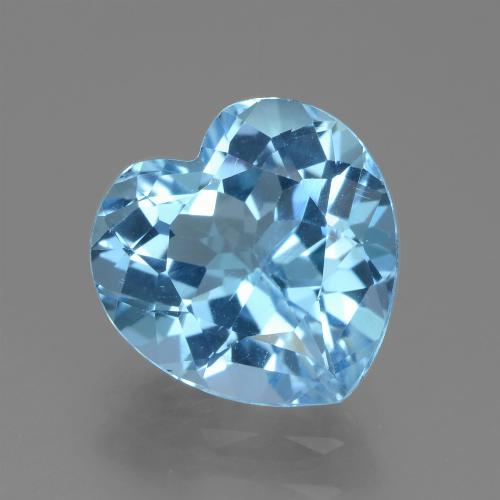 Swiss Blue Topaz Gem - 3.1ct Heart Facet (ID: 439245)