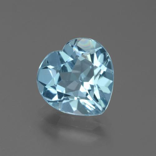 Swiss Blue Topaz Gem - 2.9ct Heart Facet (ID: 439285)