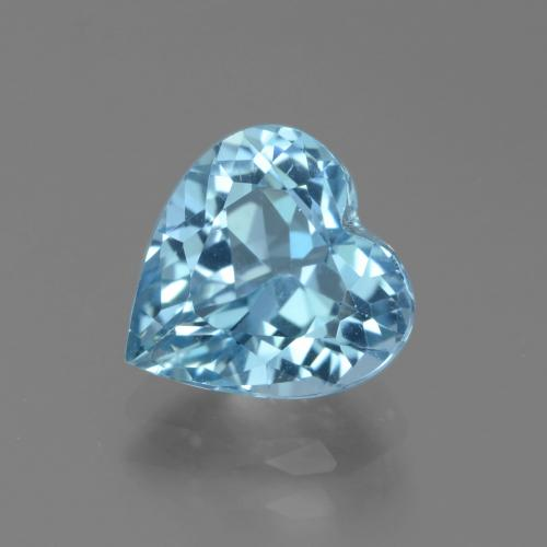 Swiss Blue Topaz Gem - 3.5ct Heart Facet (ID: 439287)