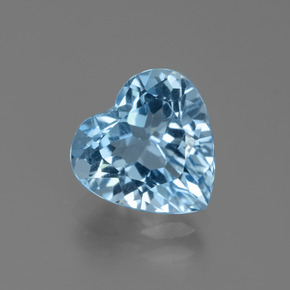 Swiss Blue Topaz Gem - 2.9ct Heart Facet (ID: 439340)