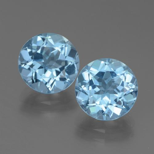 Swiss Blue Topaz Gem - 3.4ct Round Facet (ID: 439727)