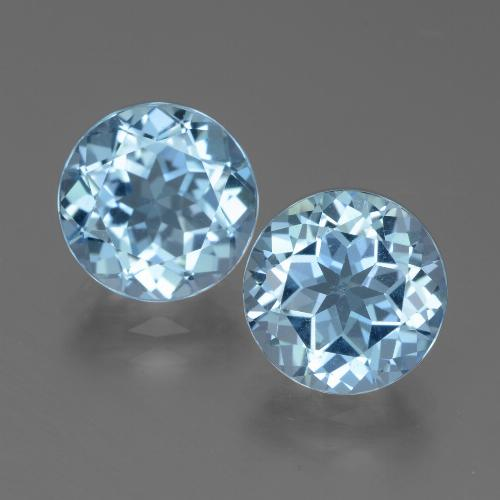 Swiss Blue Topaz Gem - 3.4ct Round Facet (ID: 439729)