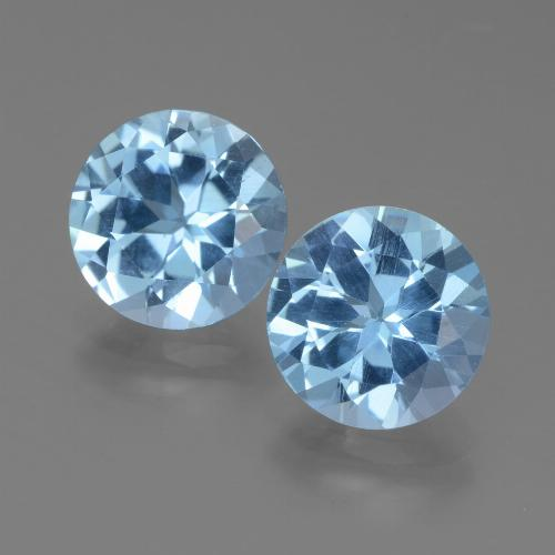 Swiss Blue Topaz Gem - 3.2ct Round Facet (ID: 439733)