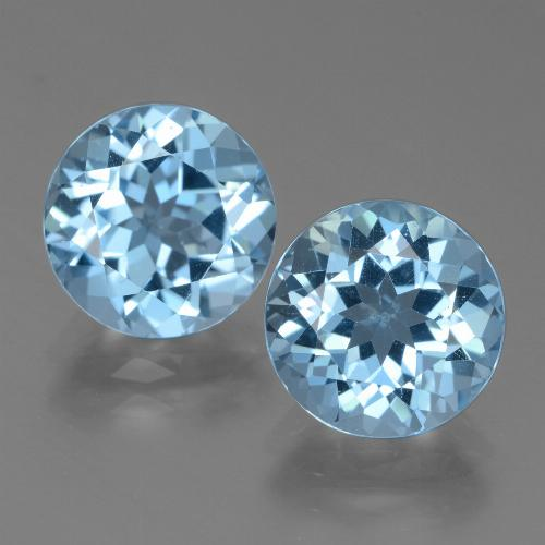 Swiss Blue Topaz Gem - 3.4ct Round Facet (ID: 439782)