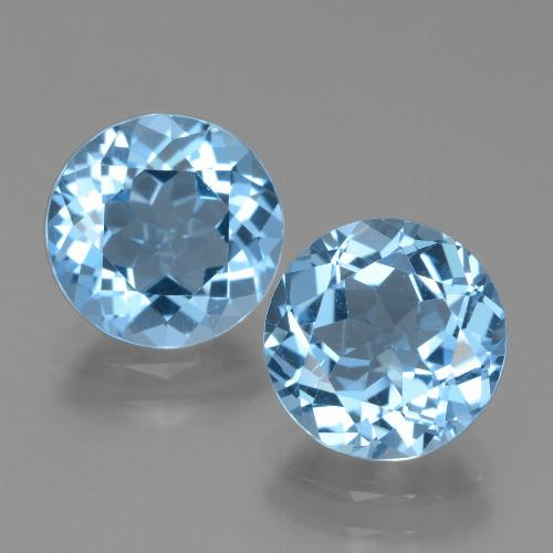 Swiss Blue Topaz Gem - 3.1ct Round Facet (ID: 439786)