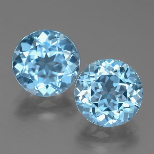 Swiss Blue Topaz Gem - 3.3ct Round Facet (ID: 439787)