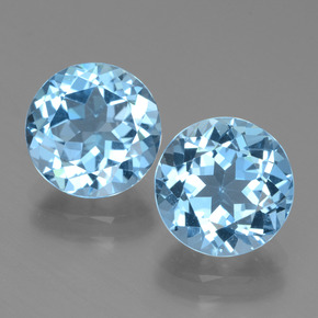 Maya Blue Topaz Gem - 3.4ct Round Facet (ID: 439788)