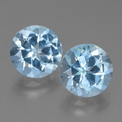 Baby Blue Topaz Gem - 3.2ct Round Facet (ID: 439792)