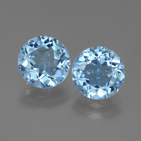 Swiss Blue Topaz Gem - 3.4ct Round Facet (ID: 439843)