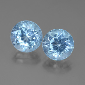 3.72 ct Round Facet Swiss Blue Topaz Gemstone 9.12 mm  (Product ID: 439845)