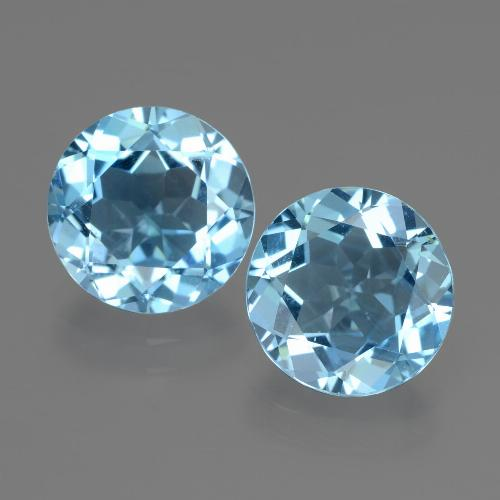 Swiss Blue Topaz Gem - 3ct Round Facet (ID: 439905)