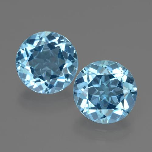 3ct Round Facet Swiss Blue Topaz Gem (ID: 439907)