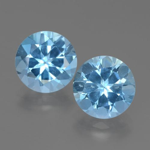 Swiss Blue Topaz Gem - 3.2ct Round Facet (ID: 439911)