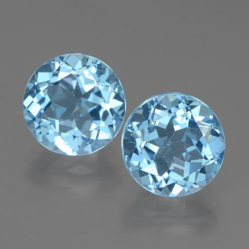 Swiss Blue Topaz Gem - 3.6ct Round Facet (ID: 439912)