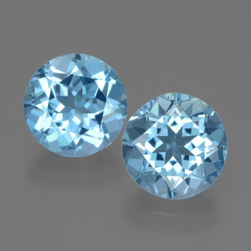 Swiss Blue Topaz Gem - 3.3ct Round Facet (ID: 439913)