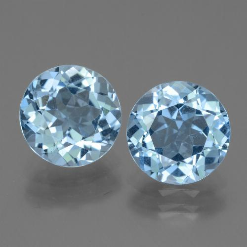 Swiss Blue Topaz Gem - 3.2ct Round Facet (ID: 439943)
