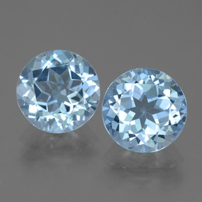 3.3ct Round Facet Swiss Blue Topaz Gem (ID: 439944)