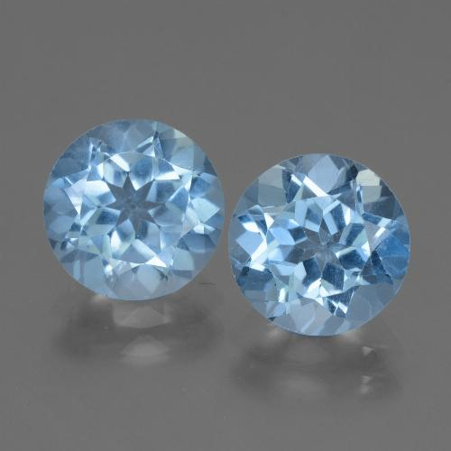 Swiss Blue Topaz Gem - 3ct Round Facet (ID: 439948)