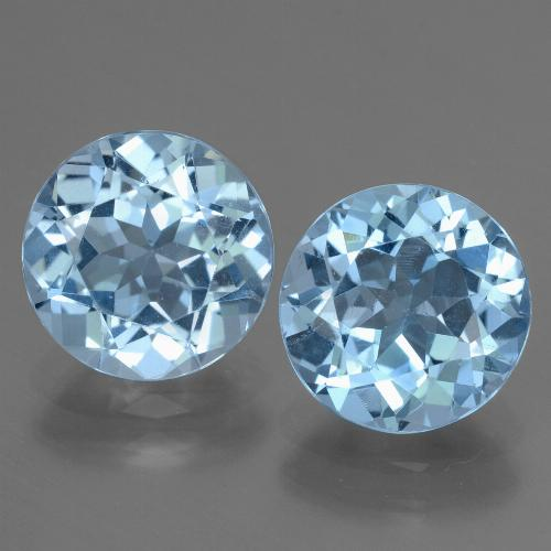 Swiss Blue Topaz Gem - 3.2ct Round Facet (ID: 439998)
