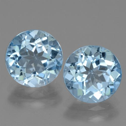 Swiss Blue Topaz Gem - 3.3ct Round Facet (ID: 440003)