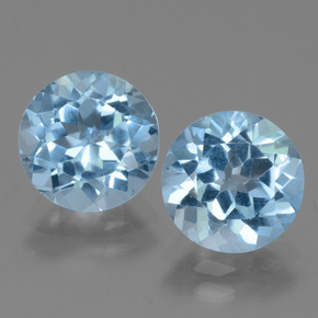 Swiss Blue Topaz Gem - 3ct Round Facet (ID: 440006)